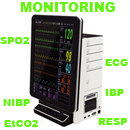 Moniteurs Multiparametres ECG,SPO2,PNI, EtCo2 (Ethernet, WIFI)