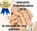Identification and security Patient bracelets